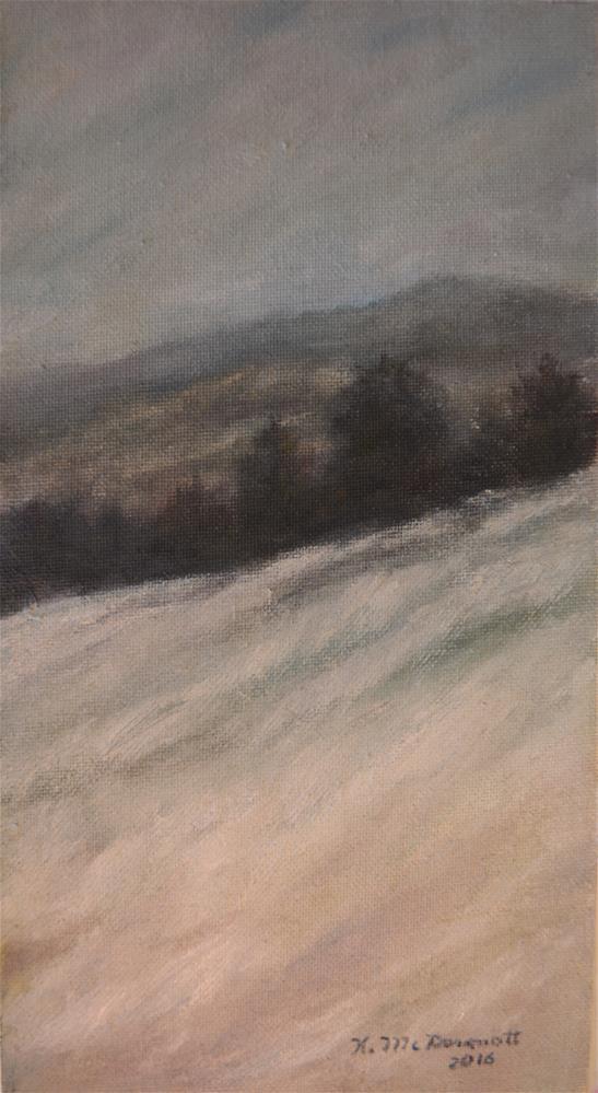 """Winter Twilight"" original fine art by Kathleen McDermott"