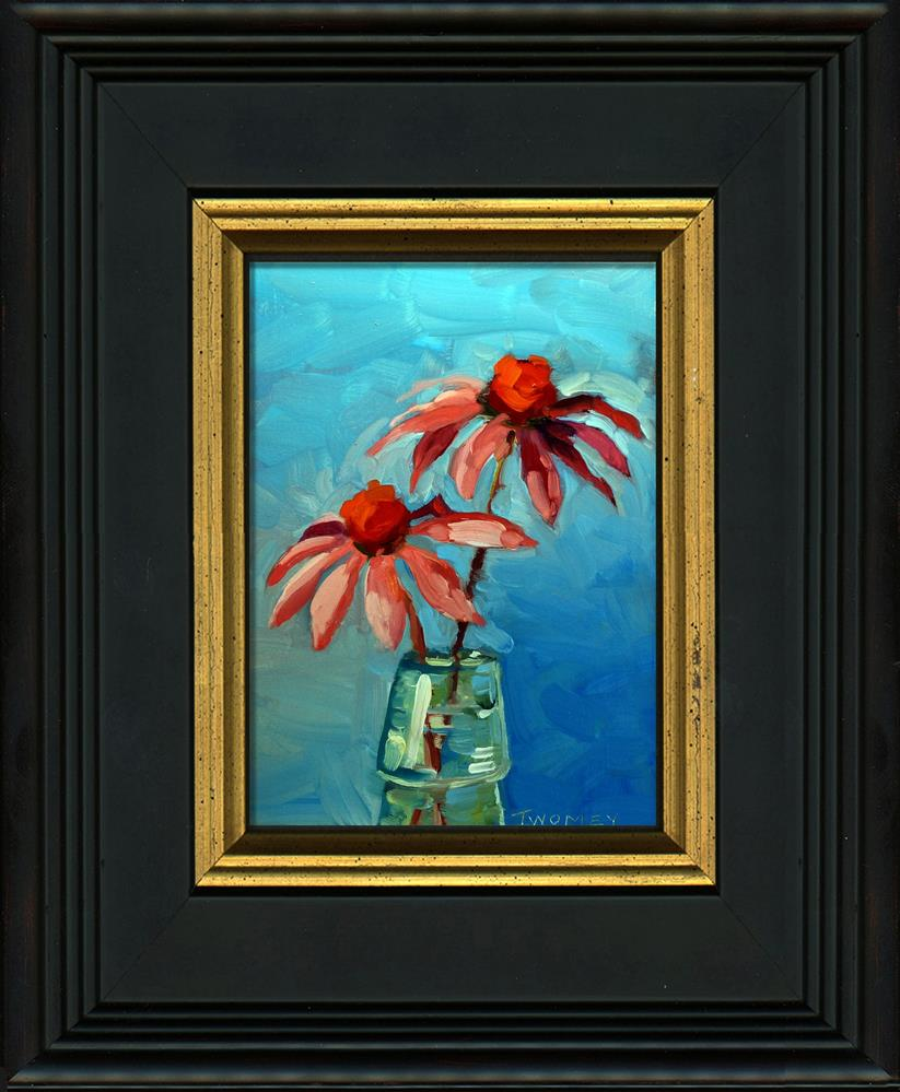 """""""Summer Echinacea in French Bottle"""" original fine art by Catherine Twomey"""