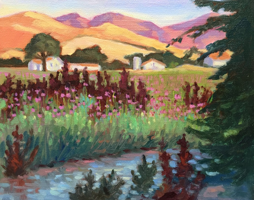 """Foothill Farm"" original fine art by Rhett Regina Owings"