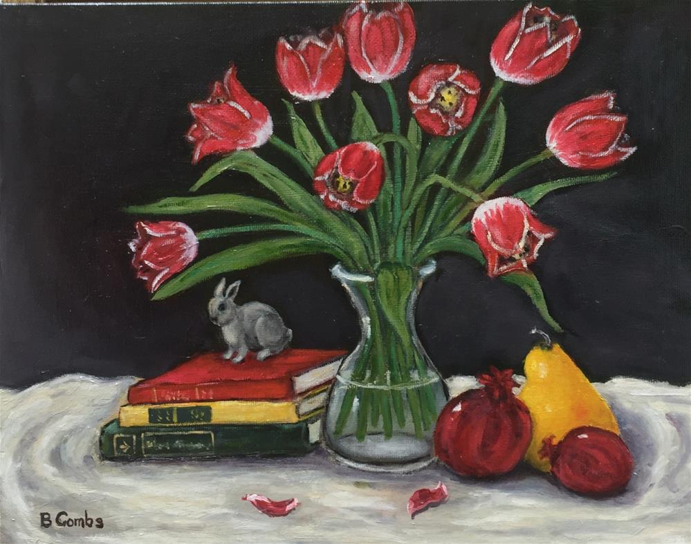 """Tulip Still Life"" original fine art by Bebe Combs"