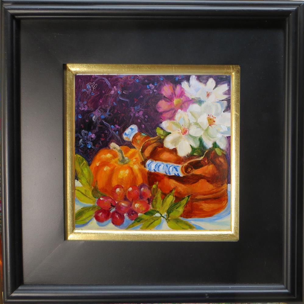 """Pumpkin and Copper Teapot"" original fine art by Rhett Regina Owings"