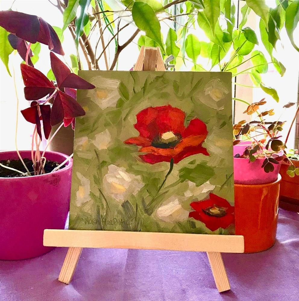 """Poppies amongst the Daisies"" original fine art by Nora MacPhail"