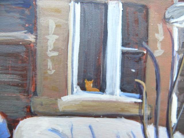 """1181 The Ginger Cat, 8x10, egg tempera"" original fine art by Darlene Young"