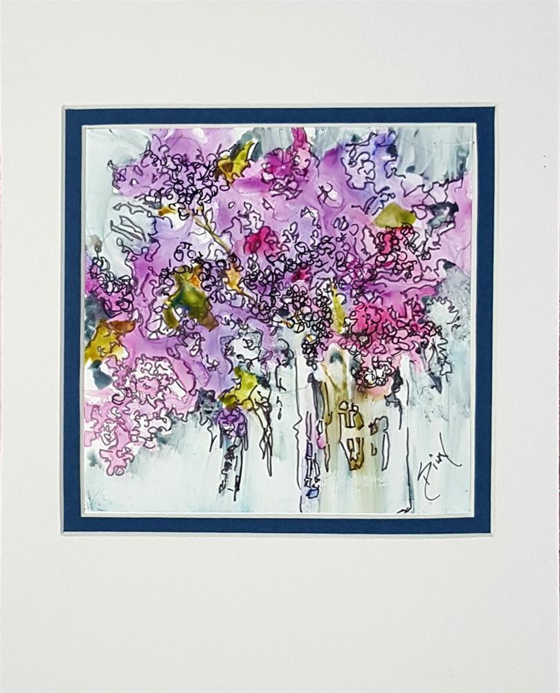 """Lilac Burst on Yupo"" original fine art by Sue Dion"