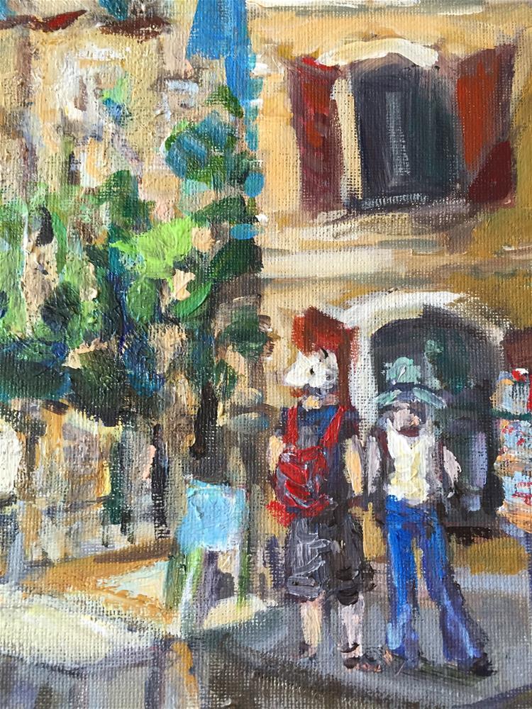 """Scene in Roussillon"" original fine art by Alina Vidulescu"