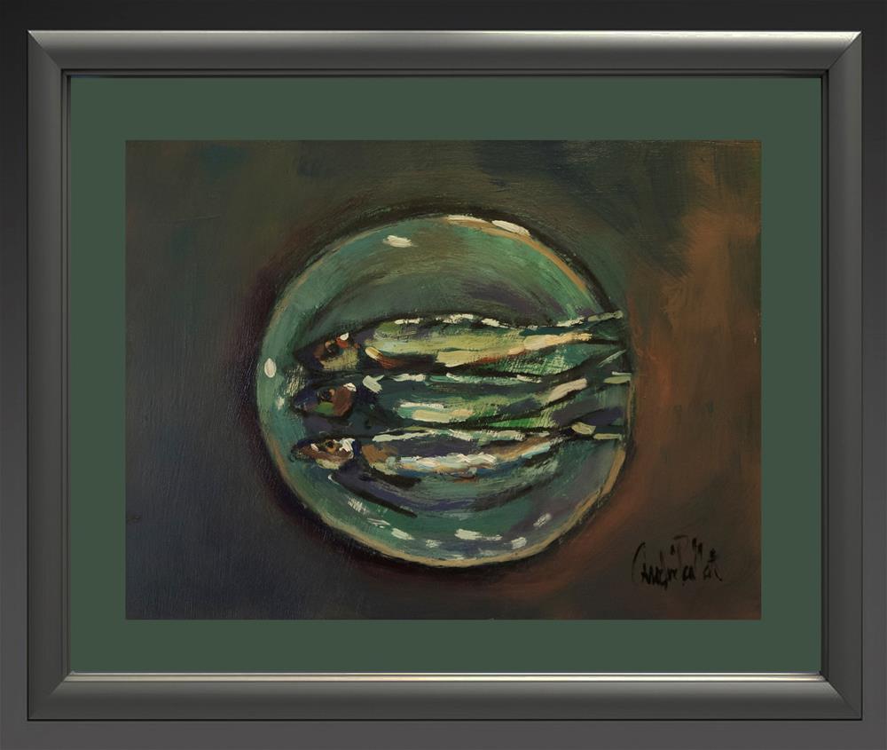 """Three Herrings"" original fine art by Andre Pallat"