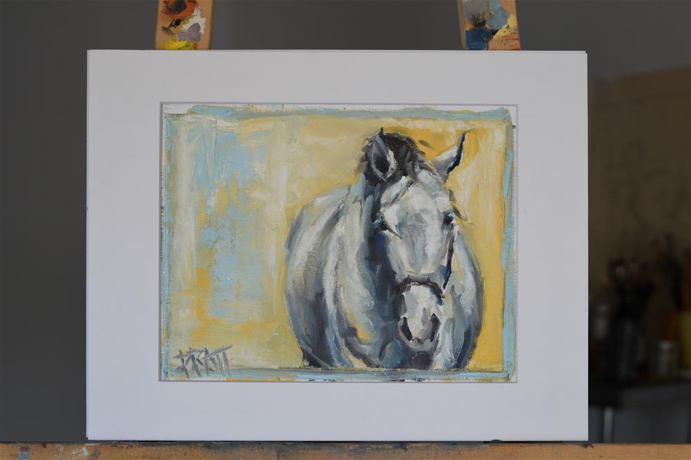 """Wendell"" original fine art by Jennifer Pratt"