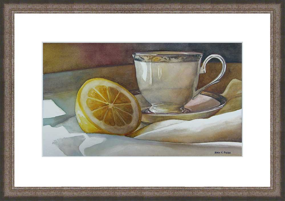 """Tea with Lemon"" original fine art by Kara K. Bigda"