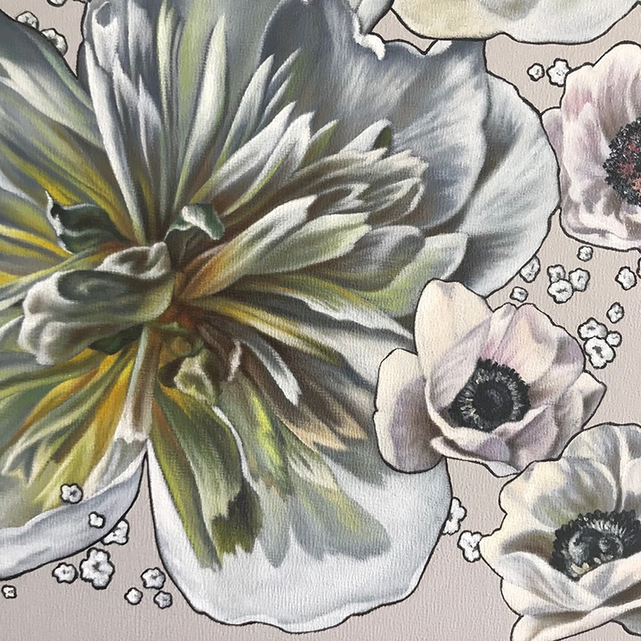 """Bouquet I"" original fine art by Jelaine Faunce"