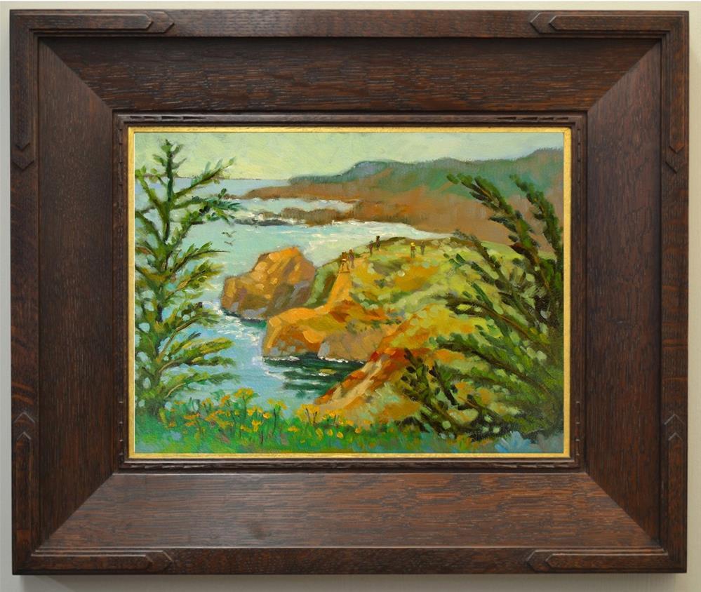 """Garraptata Cliffs"" original fine art by Rhett Regina Owings"