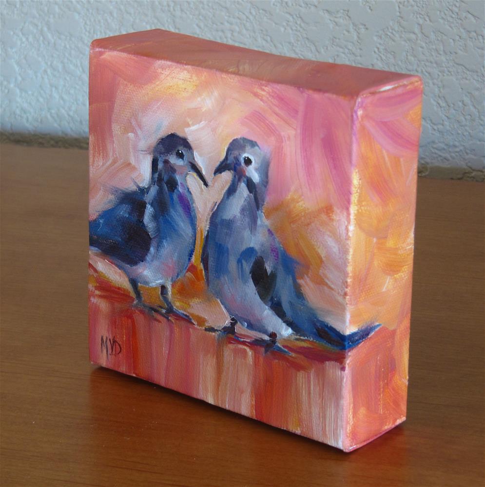 """""""Dove Love"""" original fine art by Mary Van Deman"""