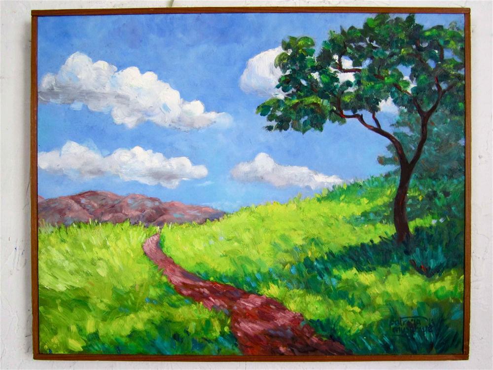 """A Walk Along the Trail"" original fine art by Patricia Musgrave"