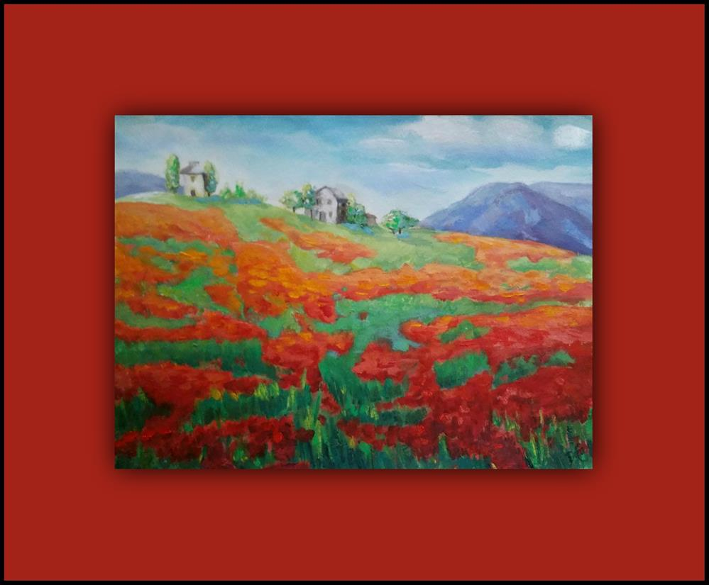 """My Poppy Field"" original fine art by Dana C"