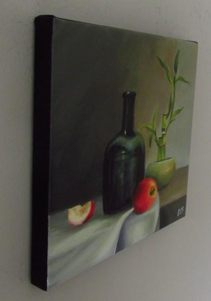 """Lucky Bamboo Still Life"" original fine art by ~ces~ Christine E. S. Code"
