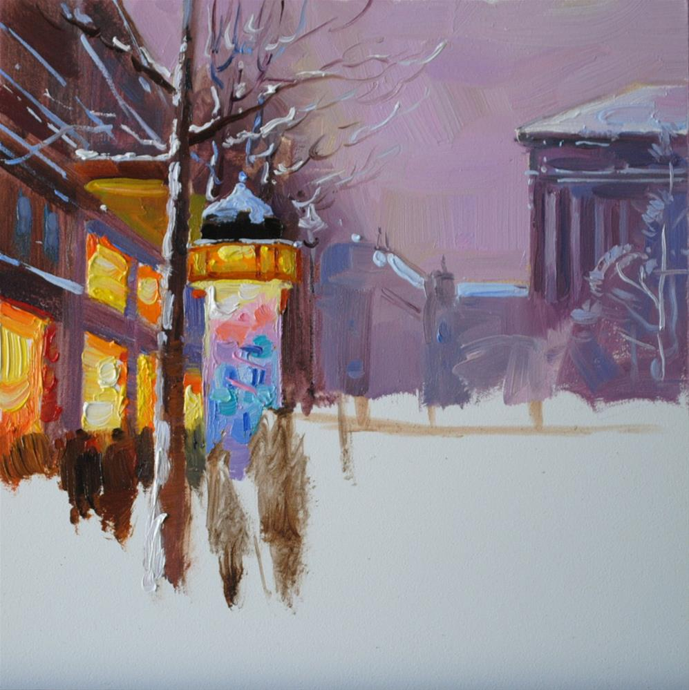 """Winter Twilight"" original fine art by Elena Katsyura"