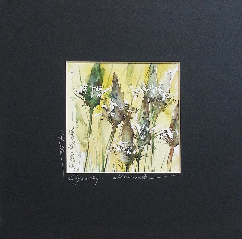 """Plantain 3"" original fine art by Marlena Czajkowska"