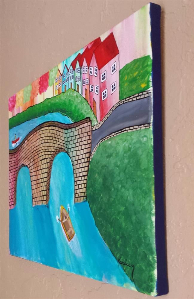"""Rowboat Race"" original fine art by Karleen Kareem"