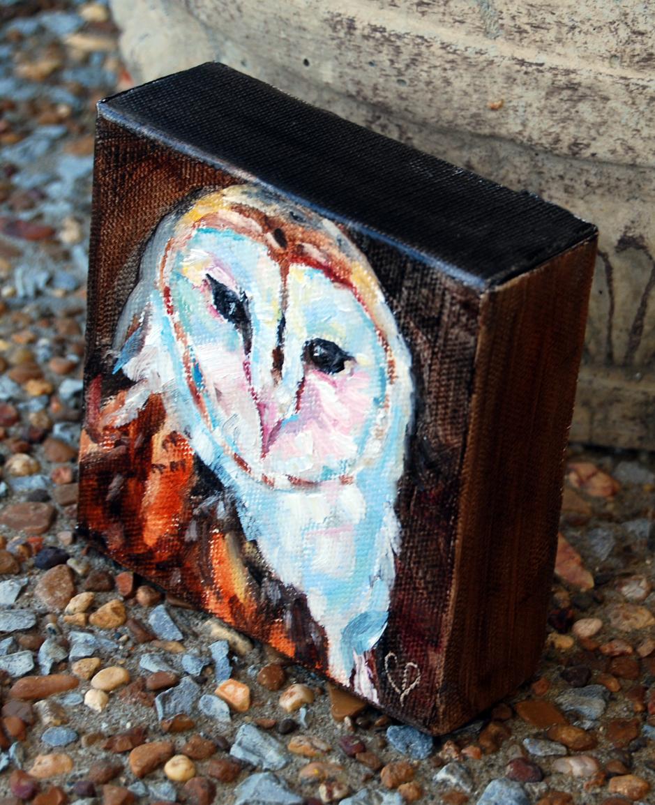 """""""Give A Hoot!"""" original fine art by Carol DeMumbrum"""