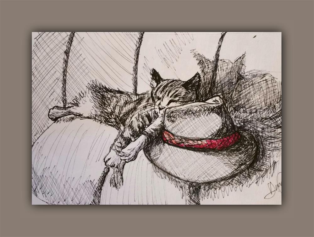 """""""Cat & the Hat"""" original fine art by Dana C"""