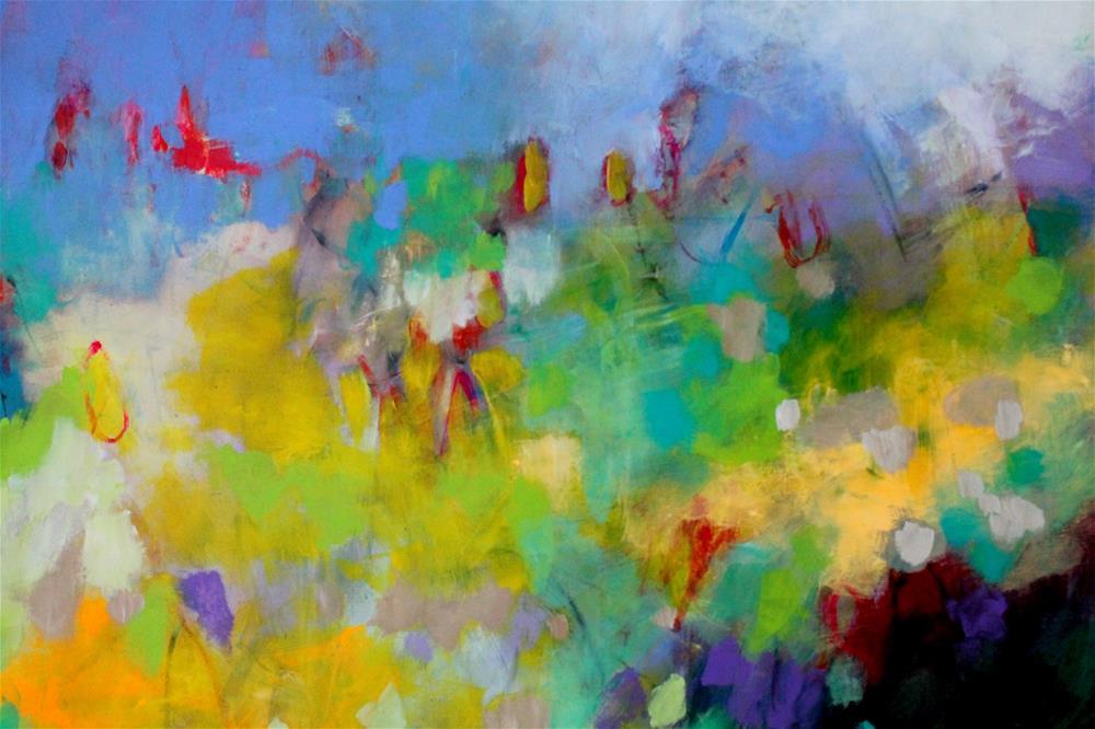 """Yellow Fields "" original fine art by Kerri Blackman"