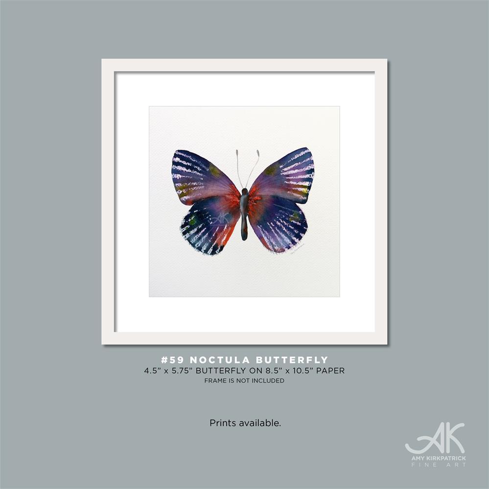 """#59 Noctula Butterfly #0369"" original fine art by Amy Kirkpatrick"