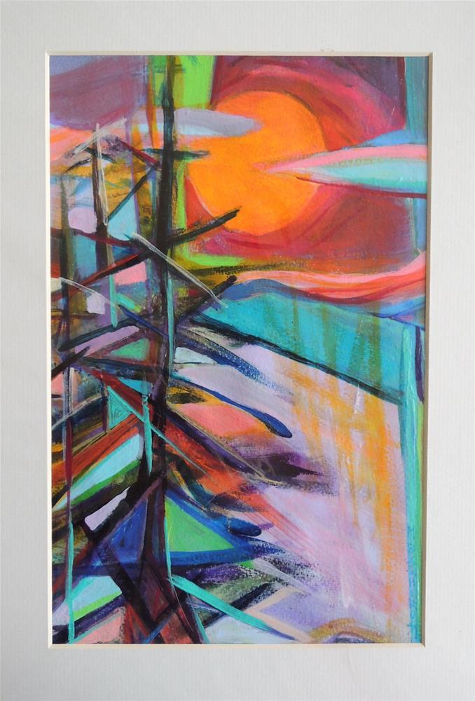 """""""Red Sky Pines"""" original fine art by Mary Schiros"""