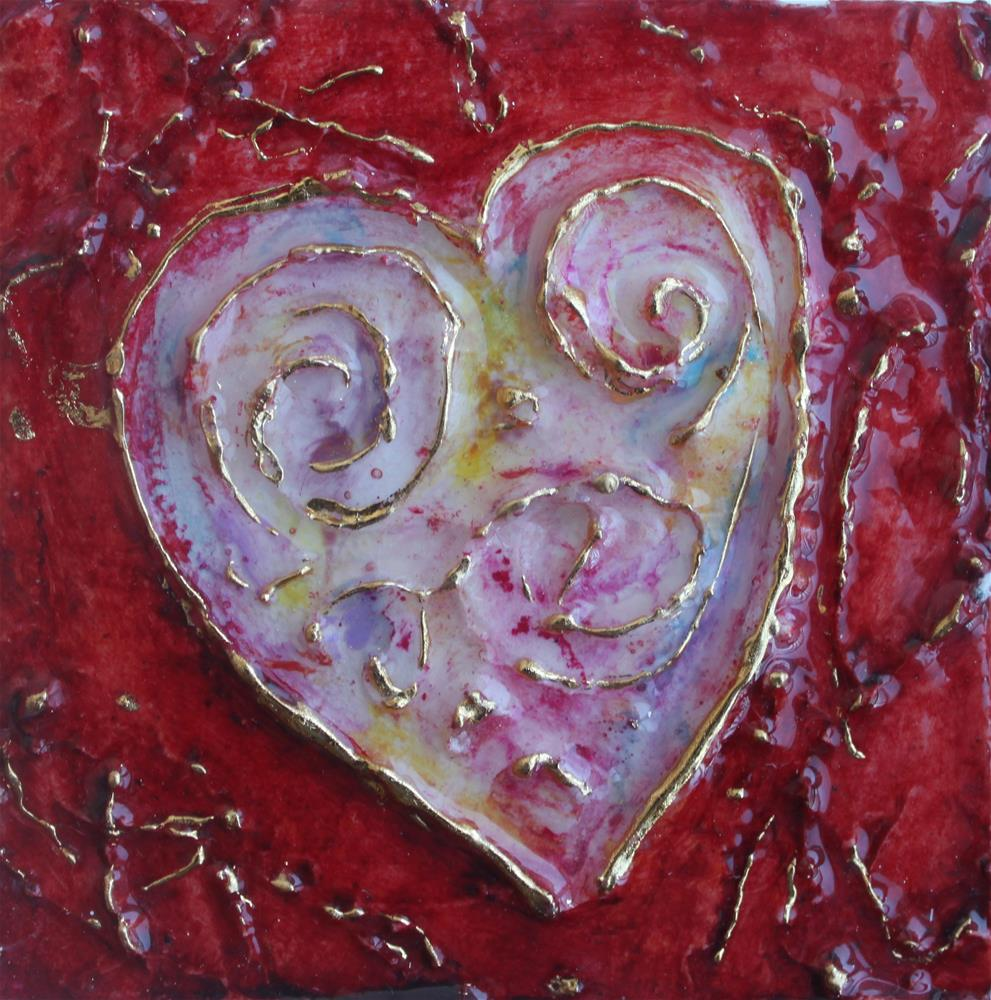 """""""With All My Heart Miniature"""" original fine art by Christiane Kingsley"""