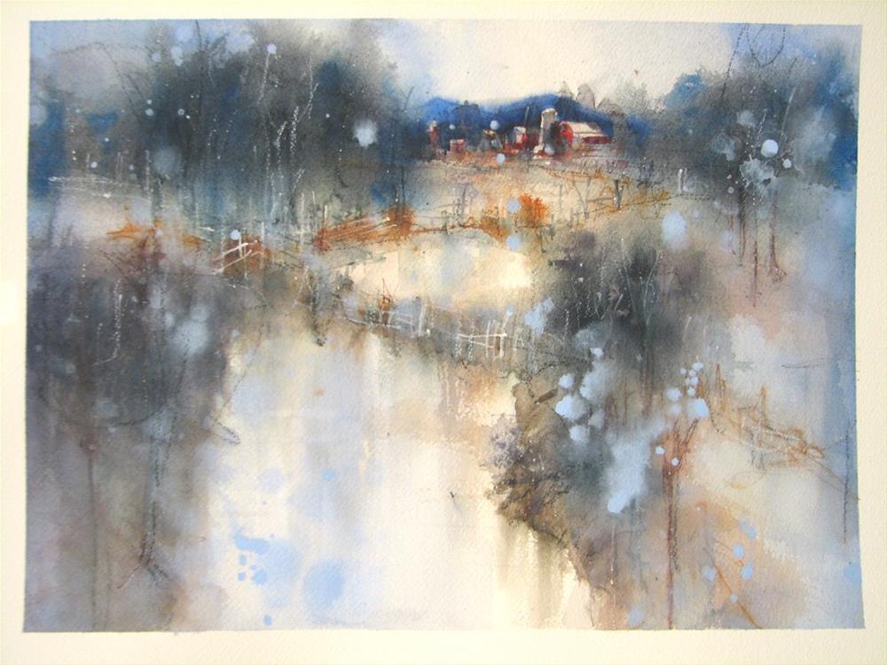 """""""Smoky Farm Fields"""" original fine art by jeffrey kasbohm"""