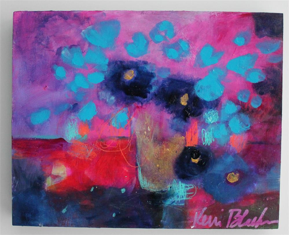 """""""Blue Fowers """" original fine art by Kerri Blackman"""