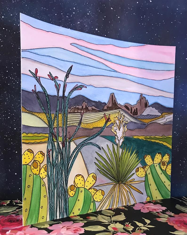 """Mule Ears, Big Bend National Park"" original fine art by Samantha Koehn"