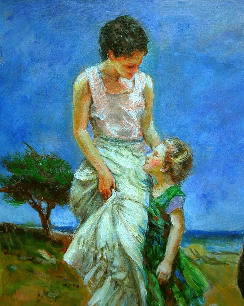 """museum visitor10"" original fine art by vishalandra dakur"