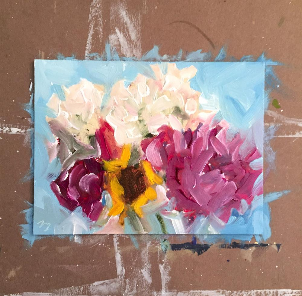"""True Blue 2.5"" original fine art by Tammy Silbermann"