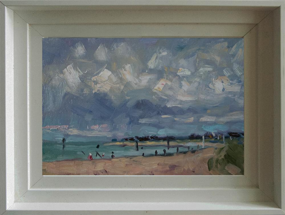 """The Beach with Fishermen"" original fine art by Andre Pallat"