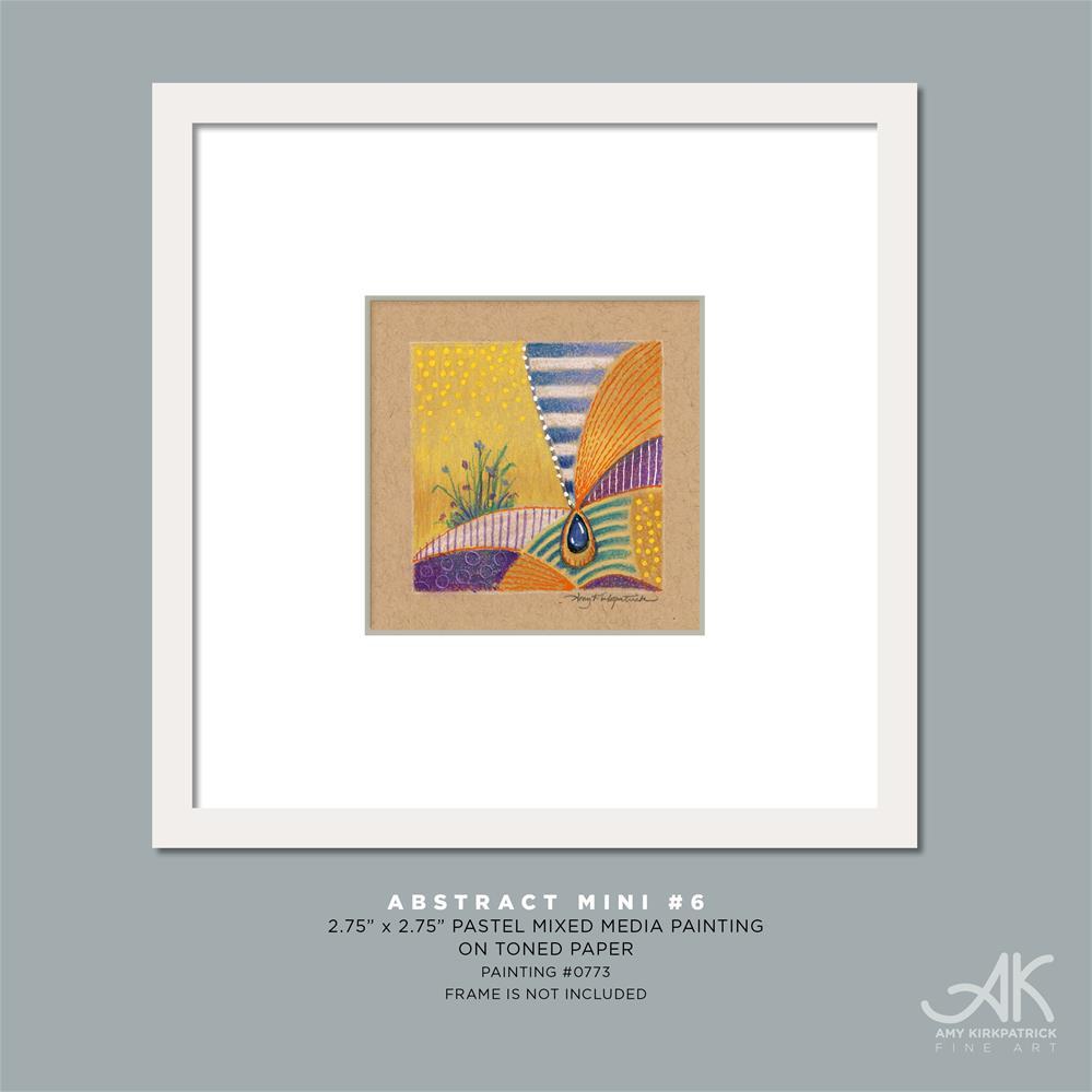 """ABSTACT MINI #6 (0773)"" original fine art by Amy Kirkpatrick"