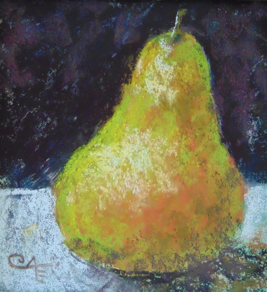 """Pear"" original fine art by Catherine Kauffman"