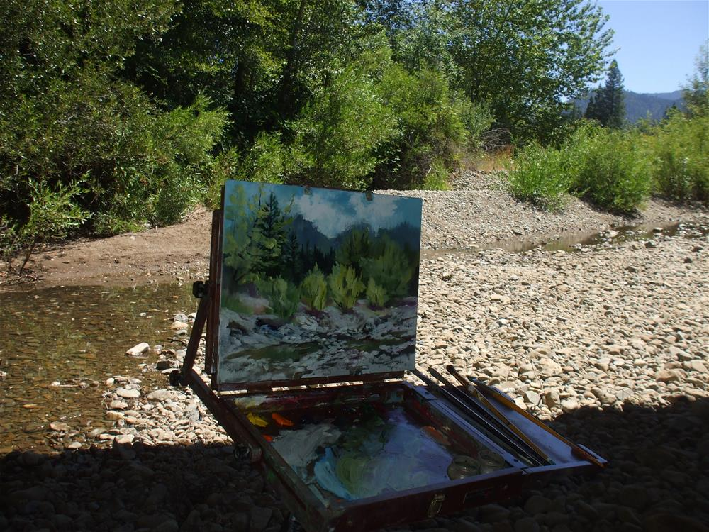 """Low Water at Dryden Creek"" original fine art by Cheryl Williams Dolan"