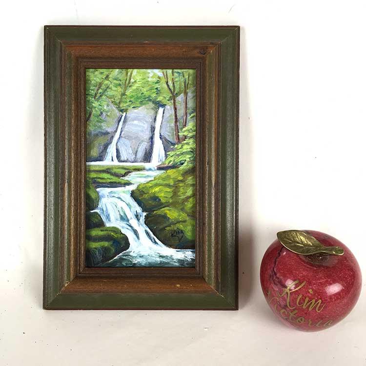 """Fairy Glen Waterfall #2"" original fine art by Kim Victoria"