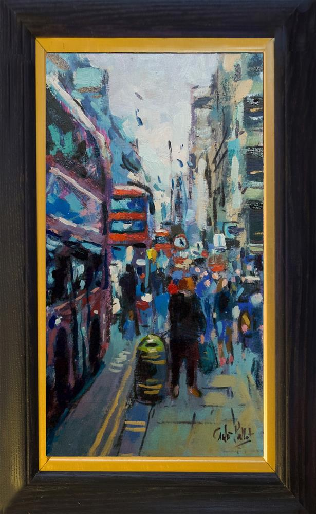 """""""London Buses"""" original fine art by Andre Pallat"""