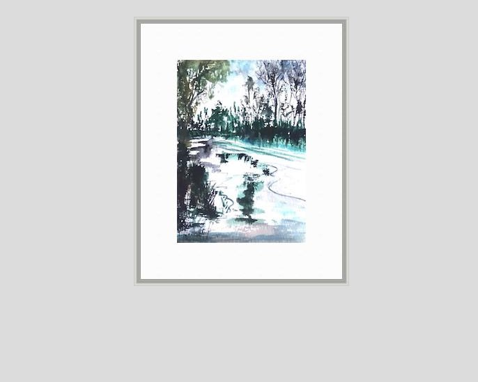 """5116 - Reflection on Winter"" original fine art by Sea Dean"