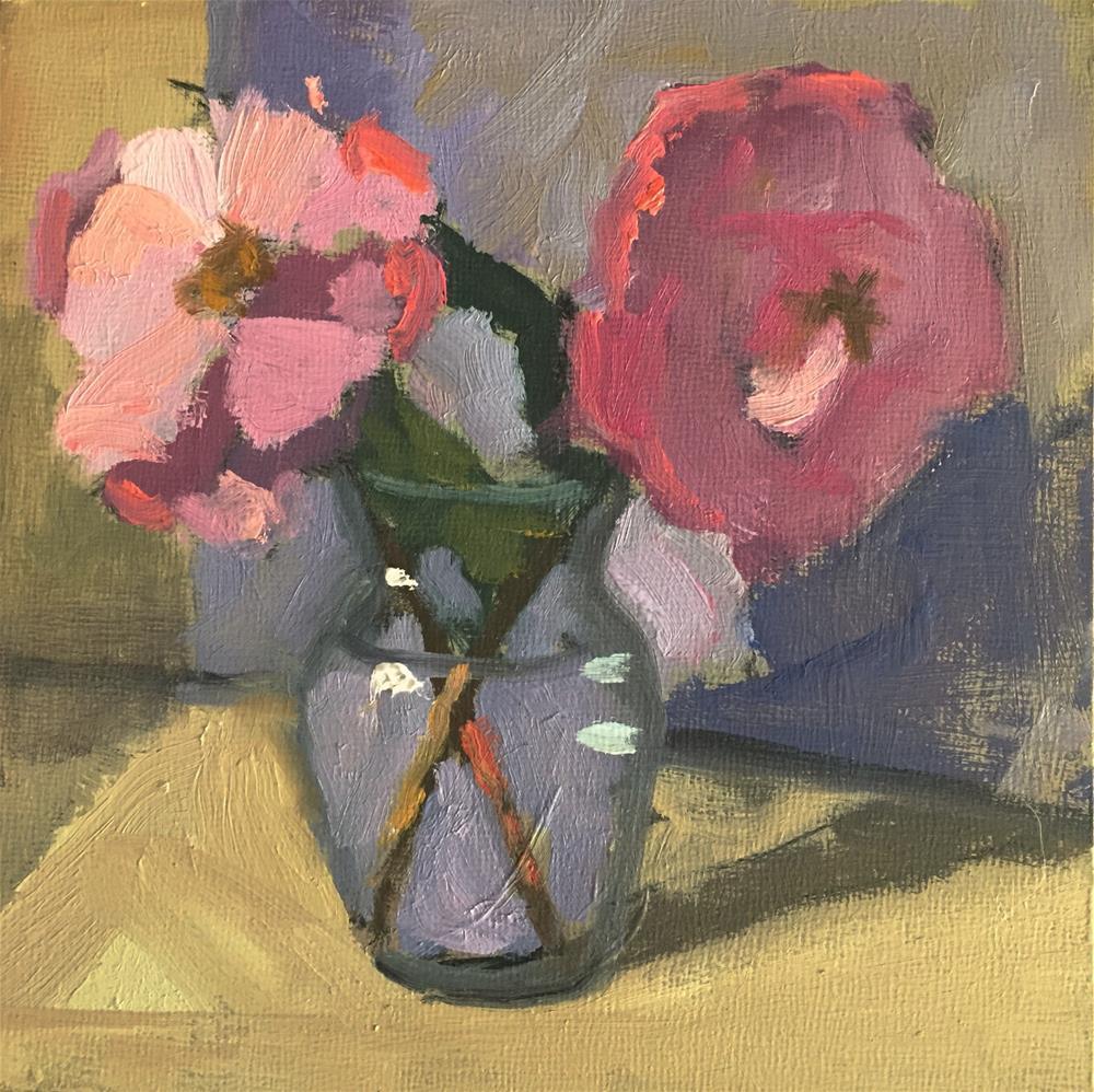 """Pink Camilias"" original fine art by Dana Cooper"