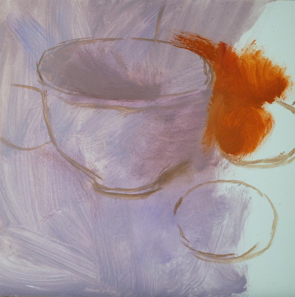 """Cup and Citrus"" original fine art by Elena Katsyura"