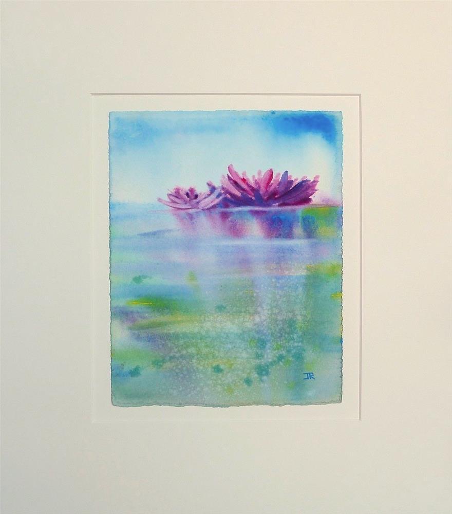 """Water Lilies 3"" original fine art by June Rollins"