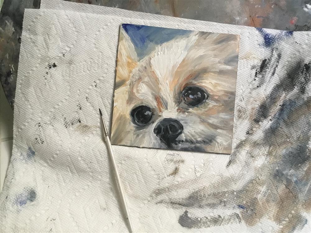 """Innocent eyes"" original fine art by Annette Balesteri"
