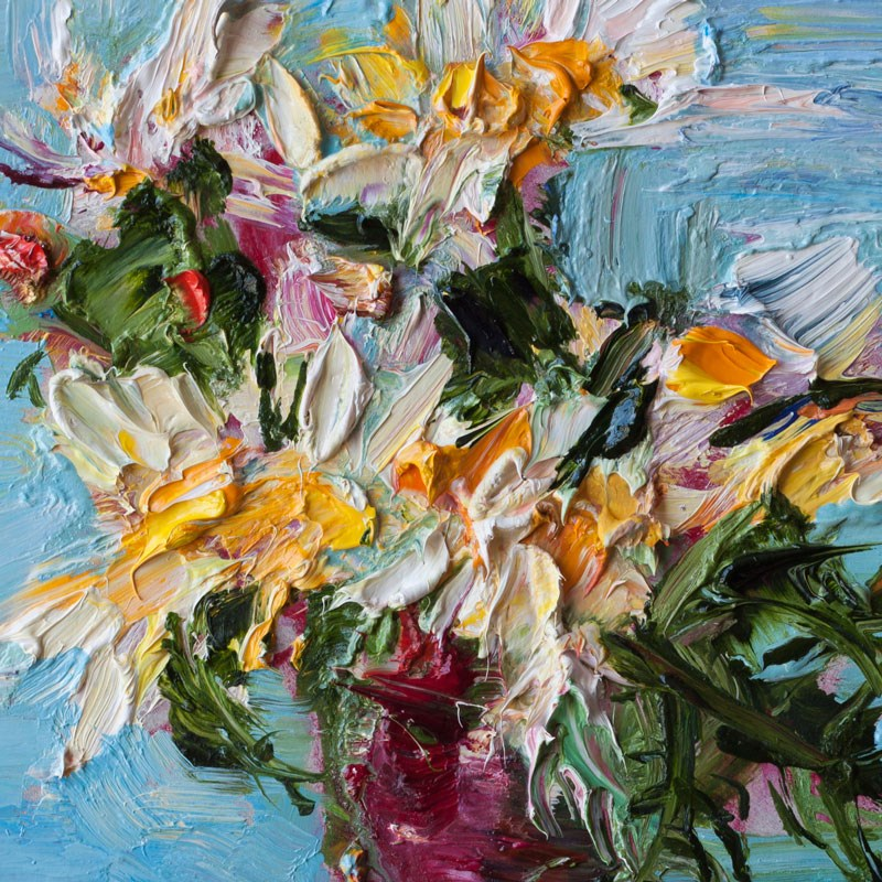 """White Daisy Flowers"" original fine art by Anna Fine Art"