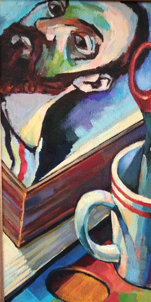 """Master Class with Matisse"" original fine art by Katya Minkina"