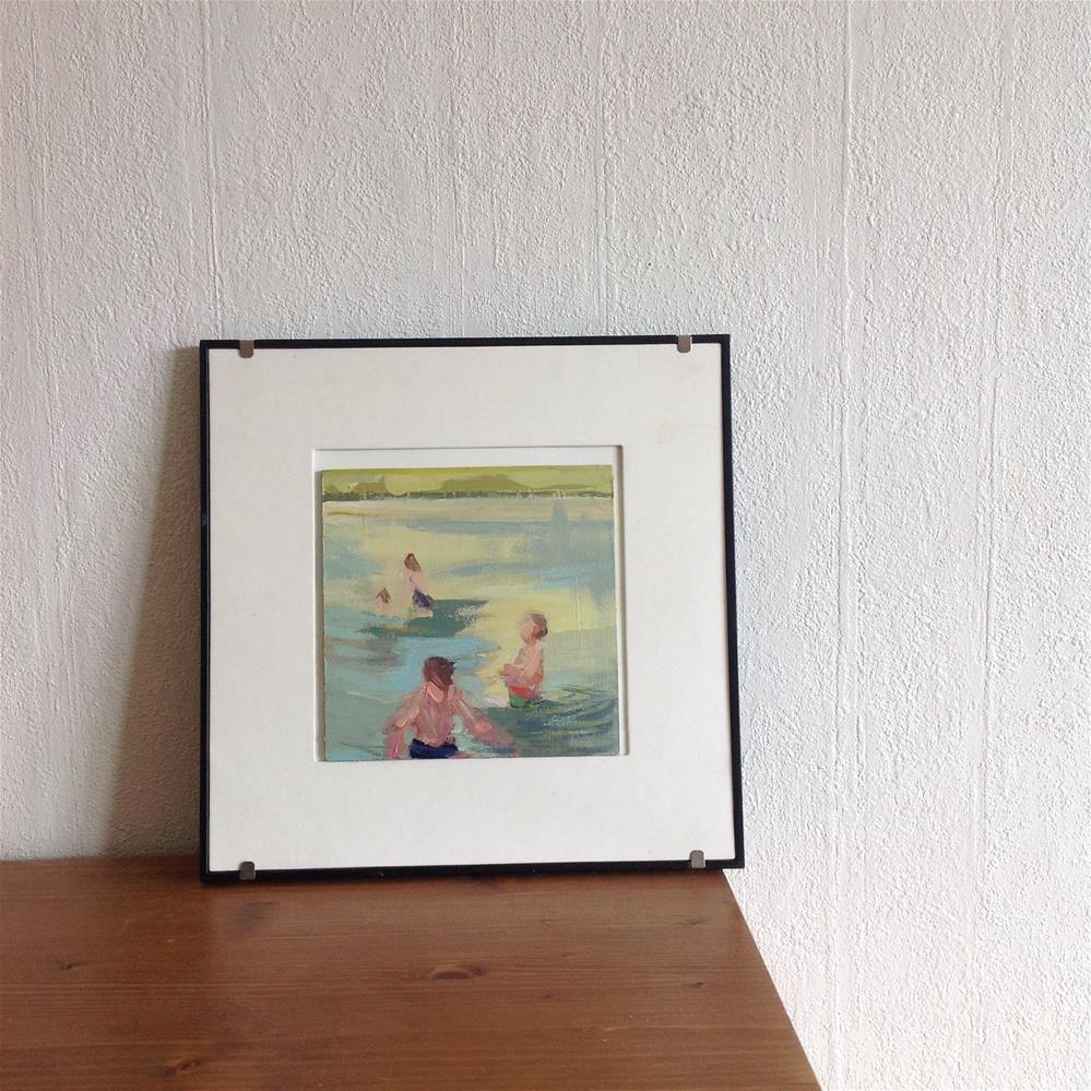 """Bathing lake"" original fine art by Christine Bayle"