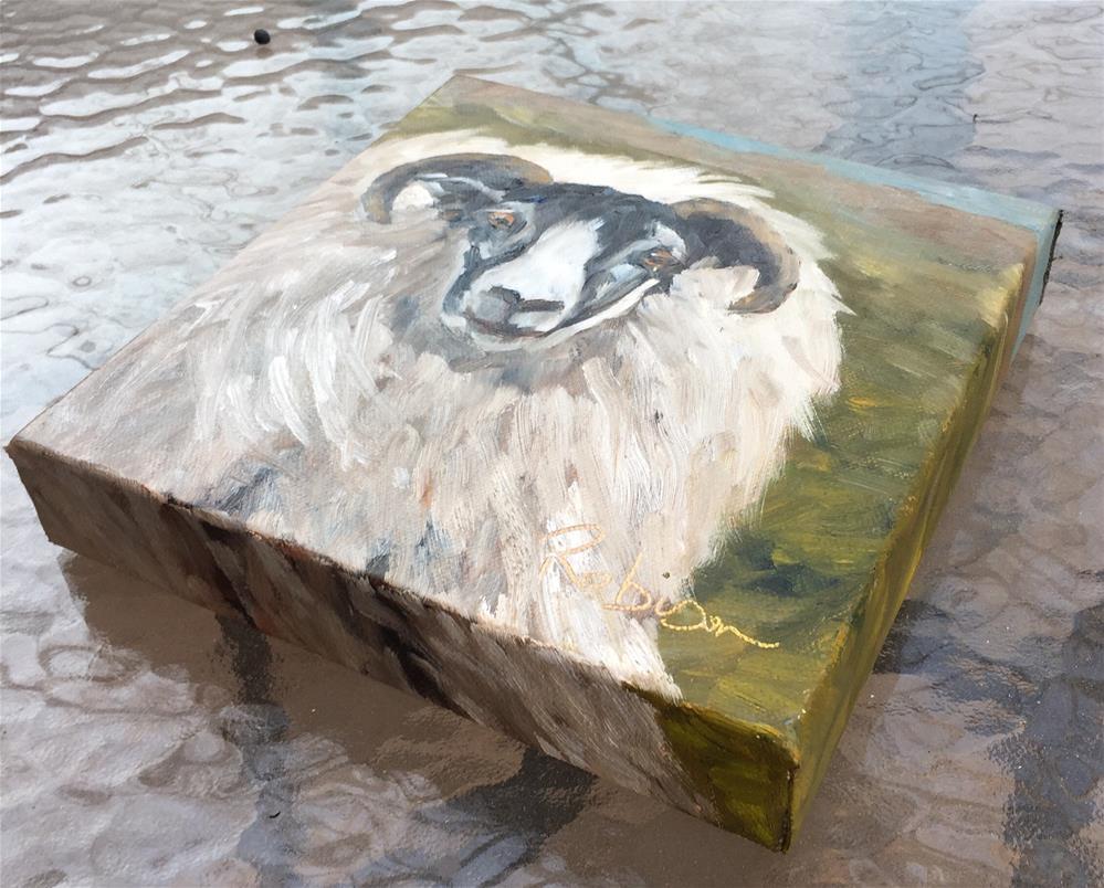 """Furry Ram"" original fine art by Renee Robison"