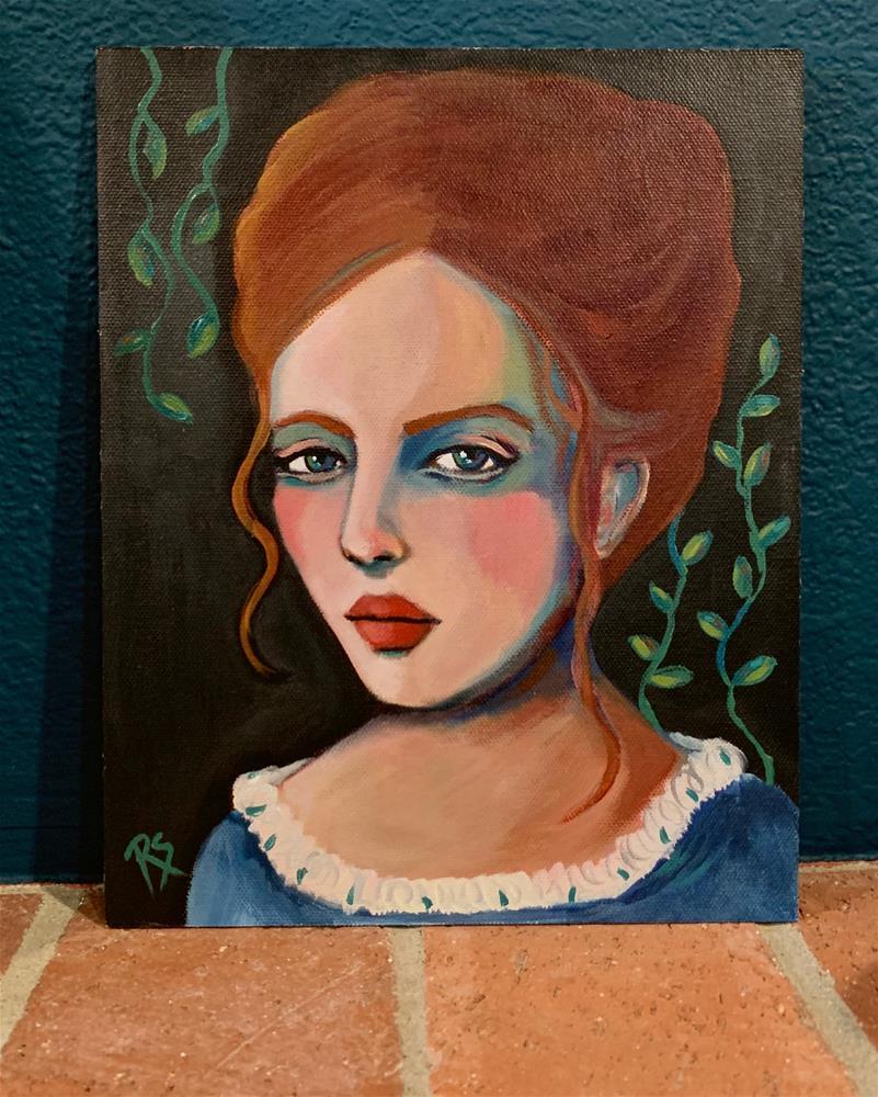 """Autumn and Ivy"" original fine art by Roberta Schmidt ArtcyLucy"
