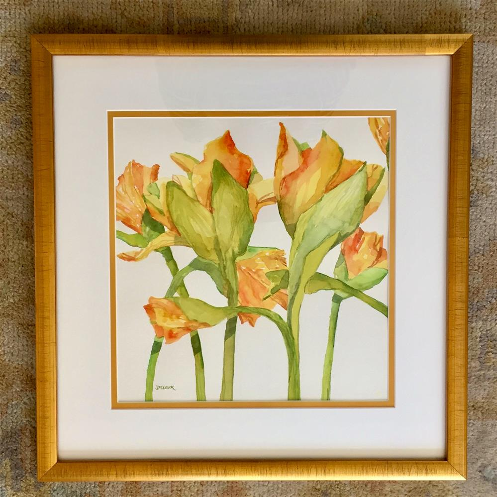 """Daffodil Waltz, framed"" original fine art by Judith Freeman Clark"