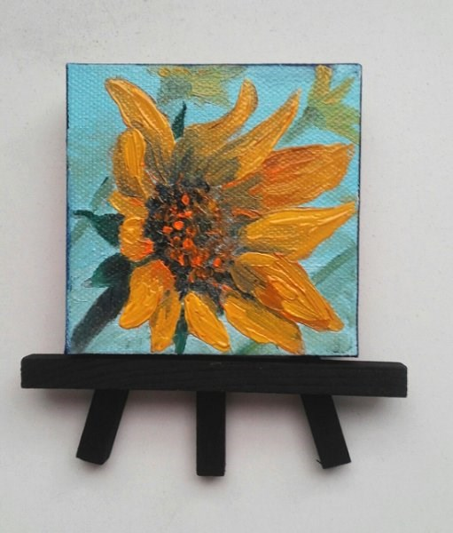 """Sunflower"" original fine art by Camille Morgan"